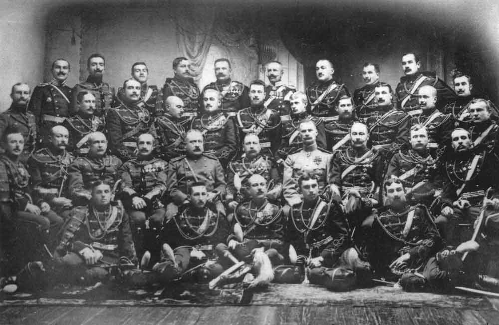 Officers of the Izumskiy Hussars in June 1910