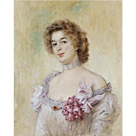 Portrait of Princess Olga Vassilievna Kotchoubey (née Demidoff) by Konstatnin Egorovitch Makovsky (1839-1915)